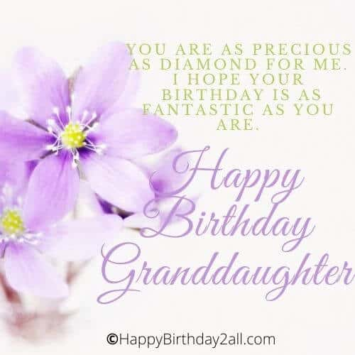 Happy Birthday lovely Granddaughter