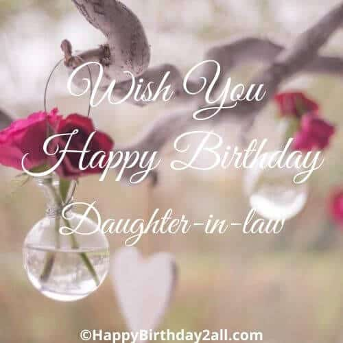 Wish You Happy Birthday daughter in law