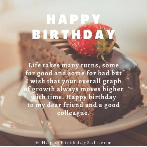 formal birthday wishes to colleague