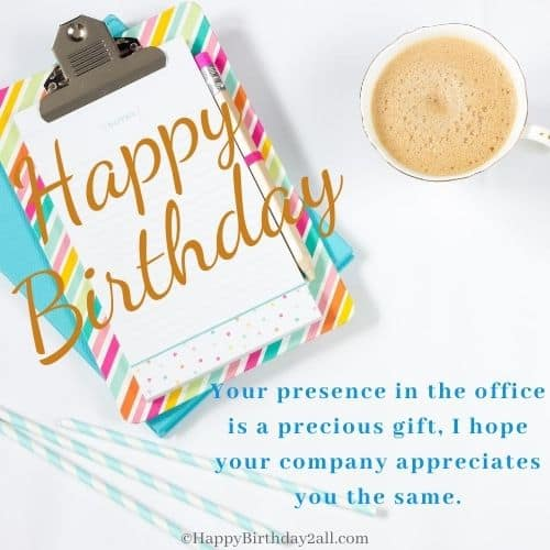 happy birthday wishes to colleague