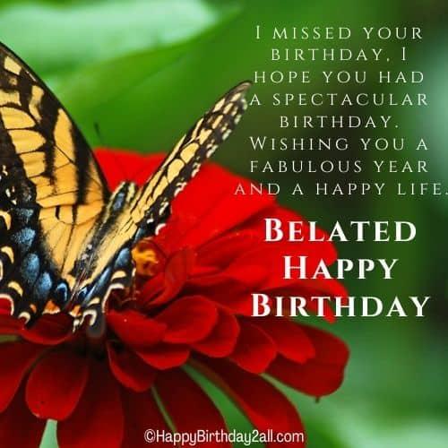 belated happy birthday to dear friend
