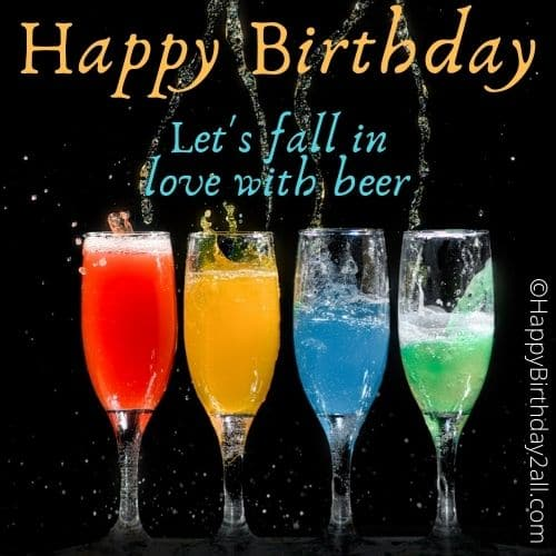 happy birthday beer images