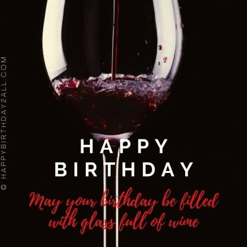 happy birthday image with wine glasses_