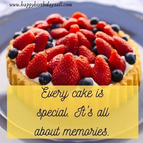 Every cake is special