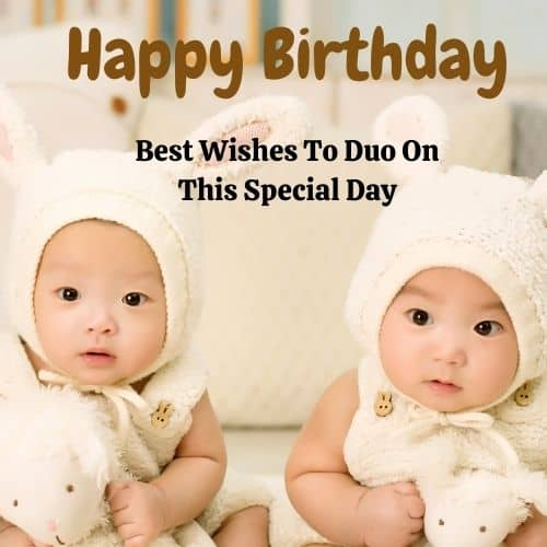 Birthday Wishes for Twin Brother & Sister