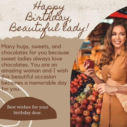 special birthday messages for women