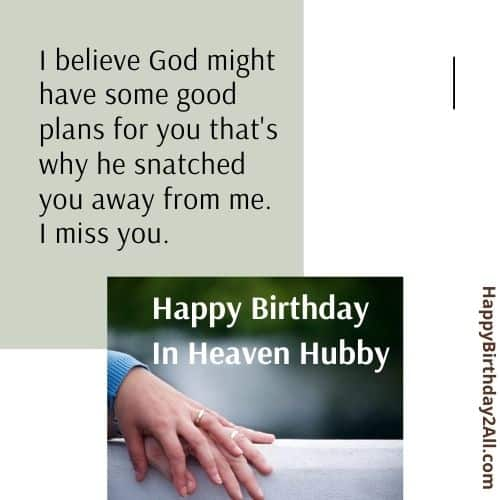 birthday wishes for dead husband