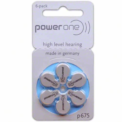 Power One Size 675 Hearing Aid Batteries