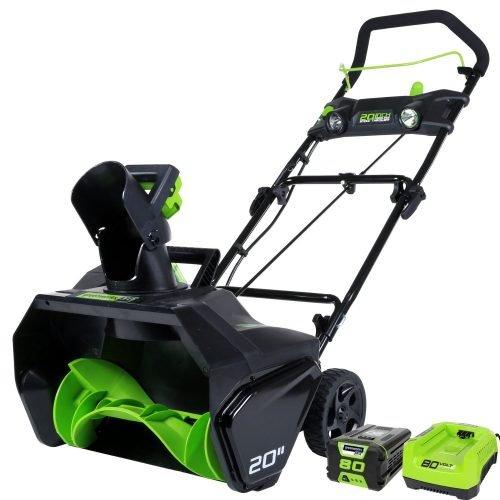 GreenWorks Pro 80V 20-Inch Cordless Snow Thrower