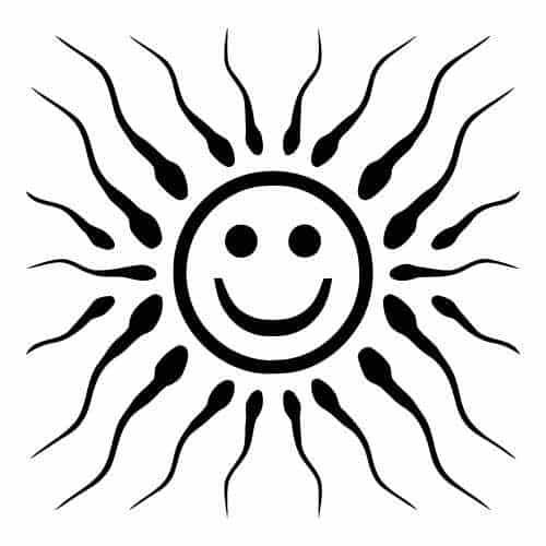 Sperm and Smiley Face Clip Art