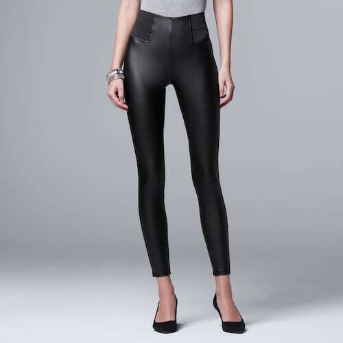 Whether you're looking for high-rise leggings or the best tummy control leggings that are sleek and stylish, we rounded up the 15 most flattering top-rated faux leather legging styles for you.