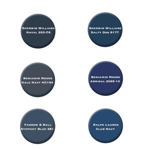 best navy blue cabinet color options