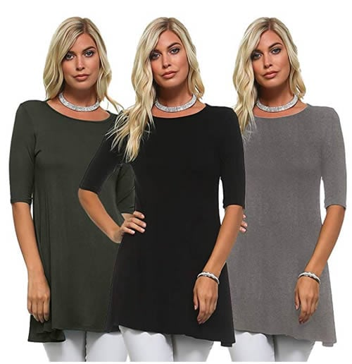 Cover your arms with 3/4 or 2/4 sleeves | 40plusstyle.com
