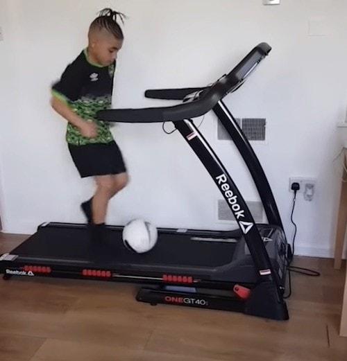 Treadmill Soccer Dribbling