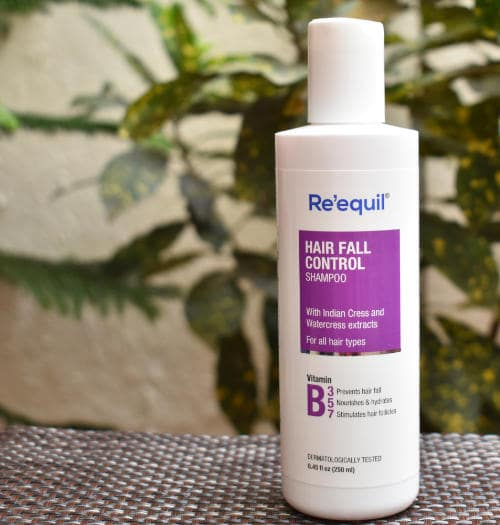Re'equil hair fall control shampoo review- packaging