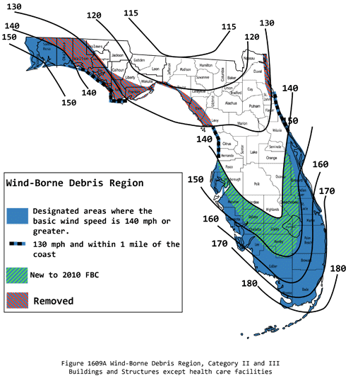 Florida Wind Zones - Screen Enclosures
