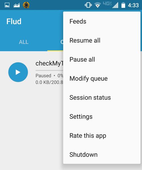 Flud menu