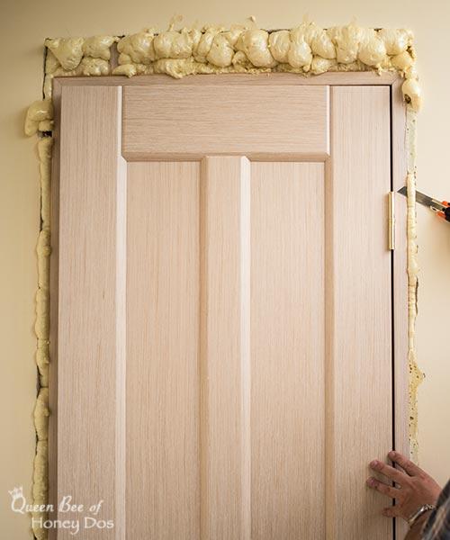 foam insulation around door frame