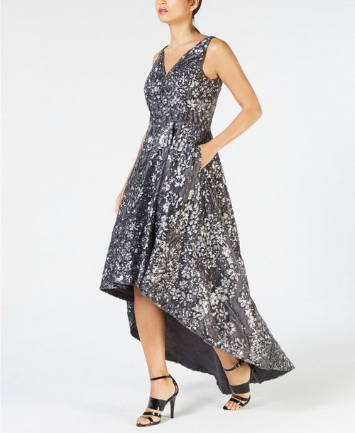 High low sequin dress | 40plusstyle.com