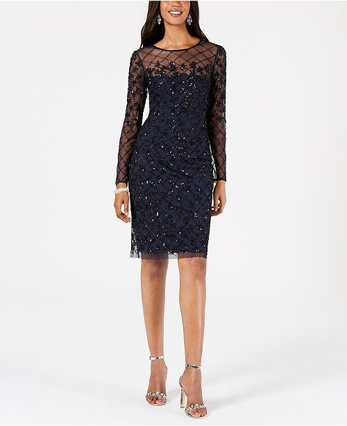 Navy sequin dress for women | 40plusstyle.com