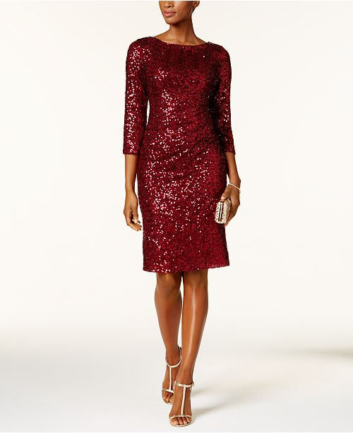 Burgundy dresses for women over 40 | 40plusstyle.com