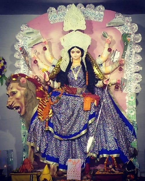 The idol of Nau-Durga having eight hands