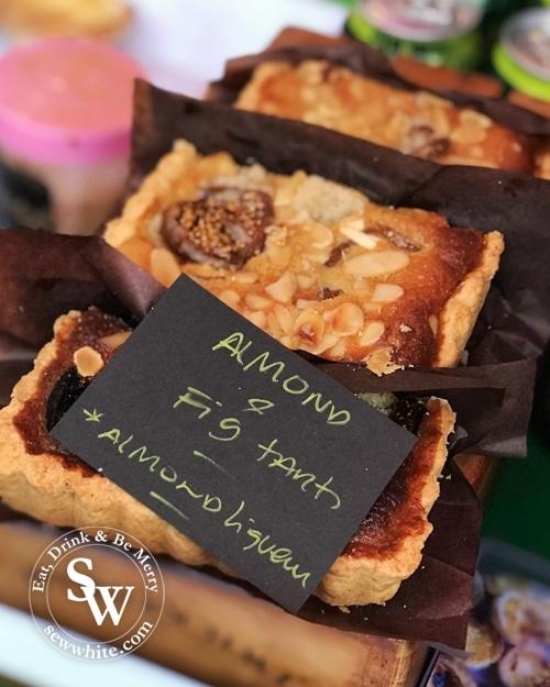 Almond and gif tart at the Wimbledon Winter Wonderland