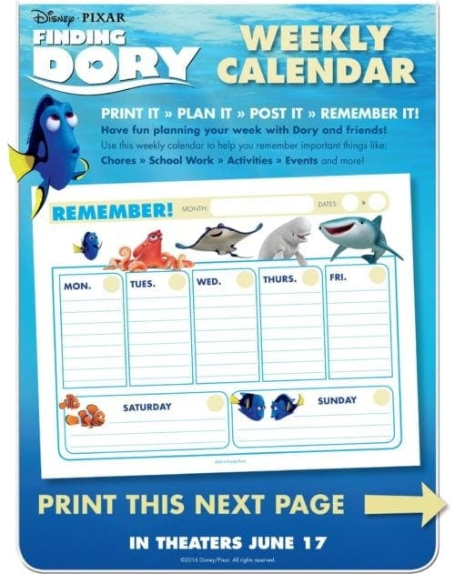 Finding Dory Kids Activities