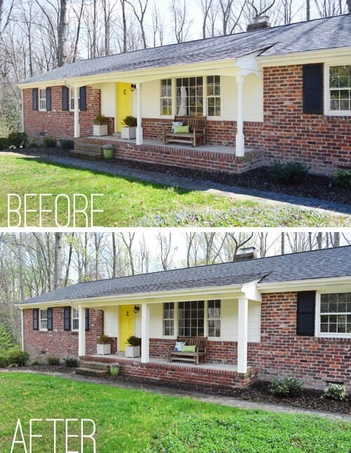 PORCH COLUMN MAKEOVER IDEAS BEFORE AFTER STRAIGHT UP