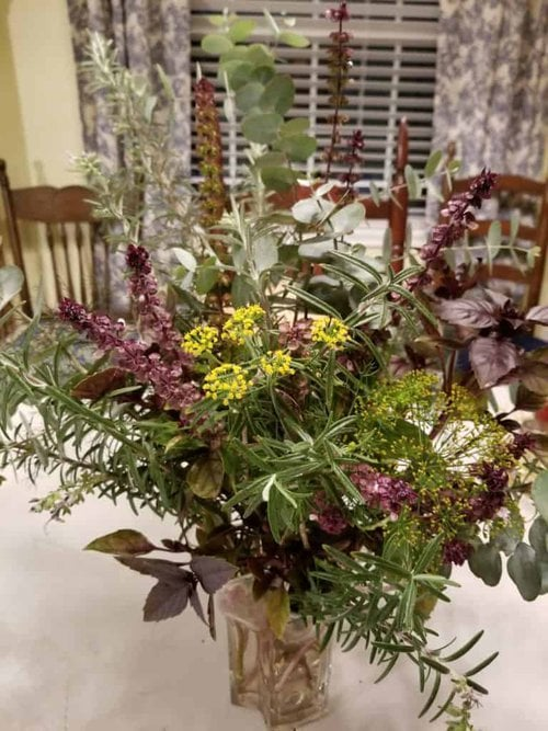 Herbal Bouquet, Herbal Centerpiece, Ornamental Herbs