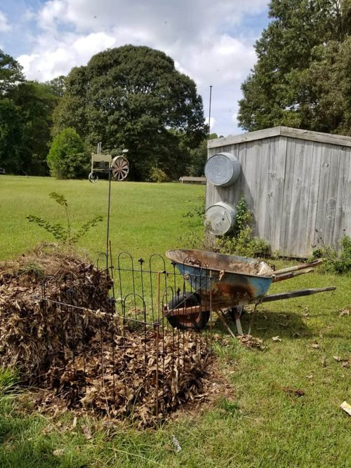 How to Begin Composting, Add the first brown layer to compost pile