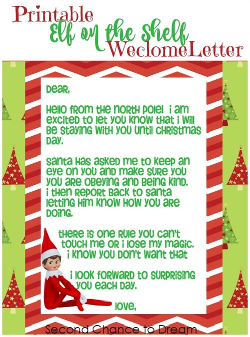 photo about Elf on the Shelf Letter Printable called Minute Possibility In direction of Aspiration - Printable Elf upon the Shelf Welcome