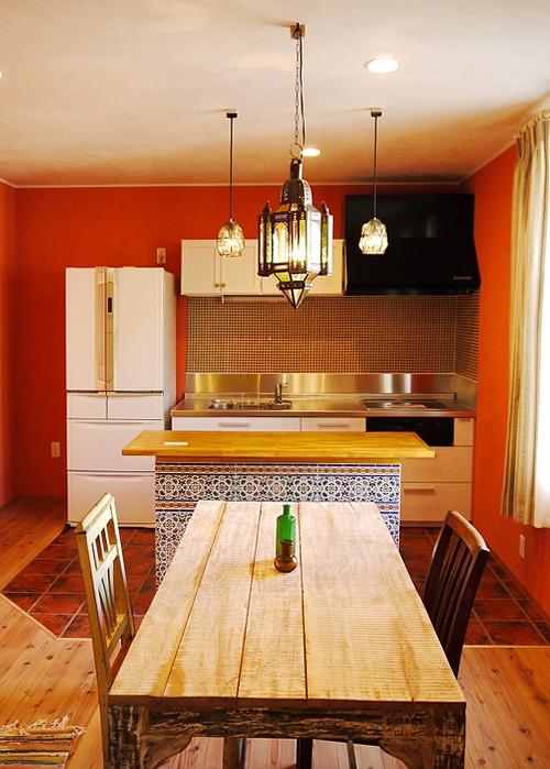 цвета сочетающиеся с оранжевым в кухне