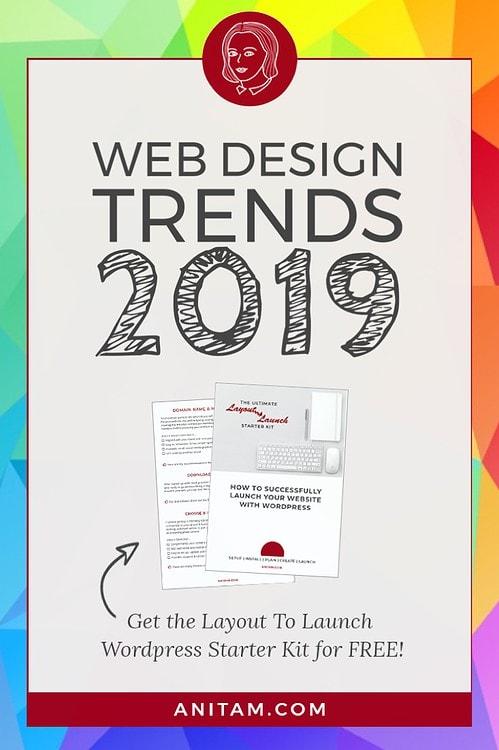 Web Design trends 2019 + WordPress Starter Kit   AnitaM