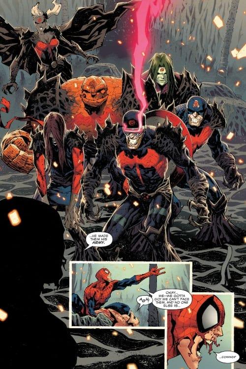Eddie Brock, Venom, Spider-Woman, Jessica Drew, Iron Man, Fantastic Four, X-Men, Marvel Comics, Donny Cates, Ryan Stegman, Karla Pacheco, Pepe Perez