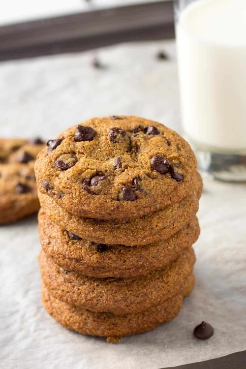 Spelt Chocolate Chip Cookie Stack