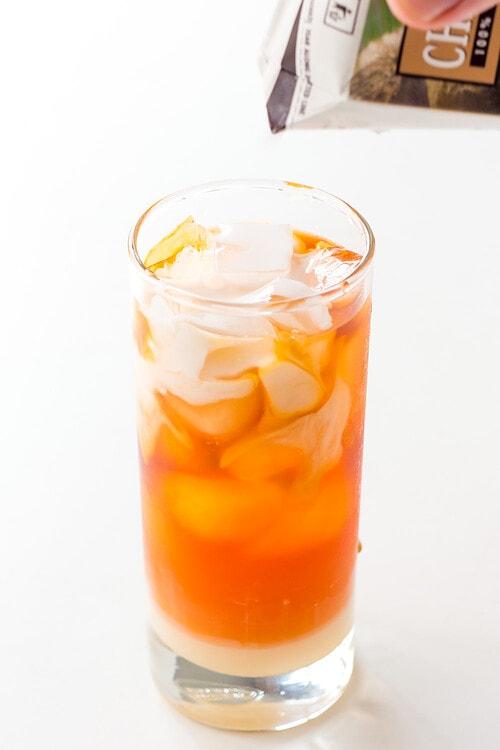 Thai Iced Milk Tea Glass