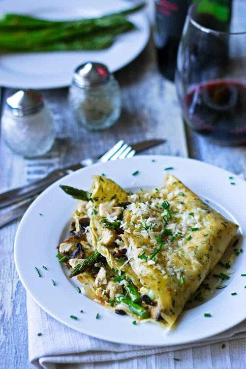 Clean Eating Savory Crepes