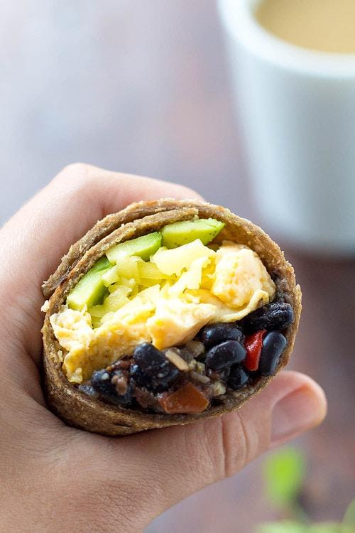 Inside of Black Bean Burrito