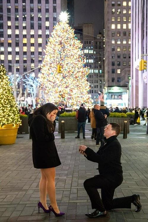 Christmas tree proposal at rockefeller center