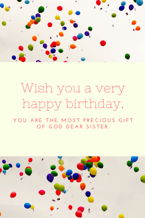 Birthday quote sister
