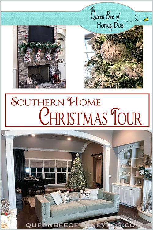 2018 Southern Home Christmas Tour! Step inside the home that brings you the Queen Bee of Honeys Dos blog, and get inspired for your own holiday decorations!