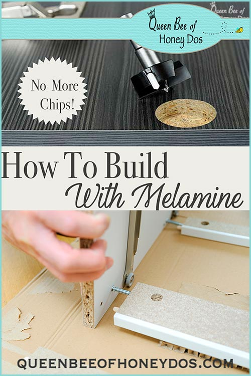 How to Build With Melamine - How to get perfects results with no chips! #DIY #woodworking #queenbeeofhoneydos