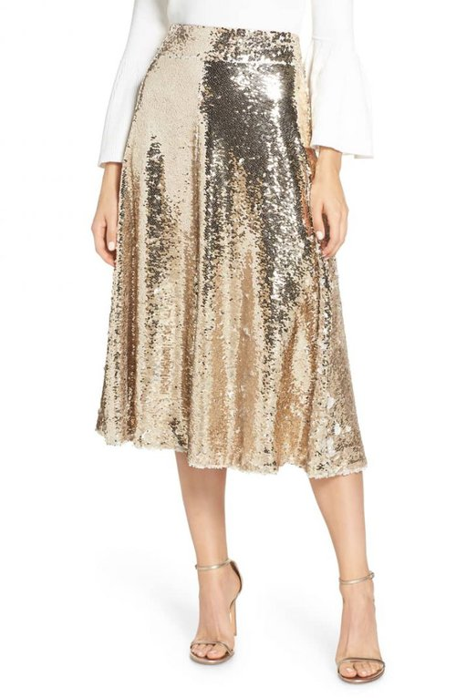 Sequin skirts for women over 40 | 40plusstyle.com
