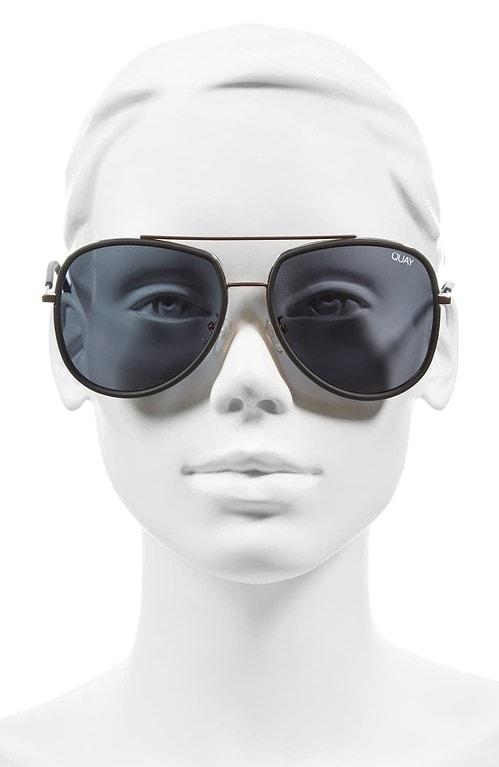 Quay 'Needing Fame' 65mm Aviator Sunglasses