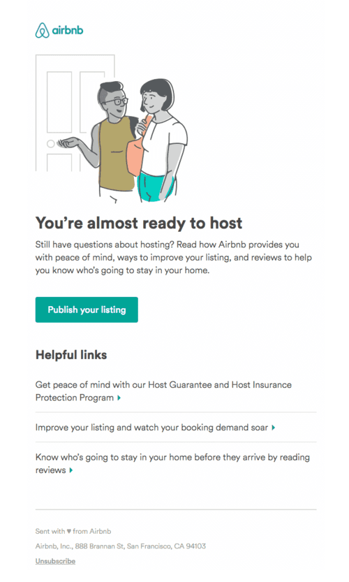 Onboarding Example from airbnb