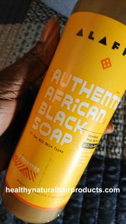 My experience with Alaffia African Black Soap on curly hair