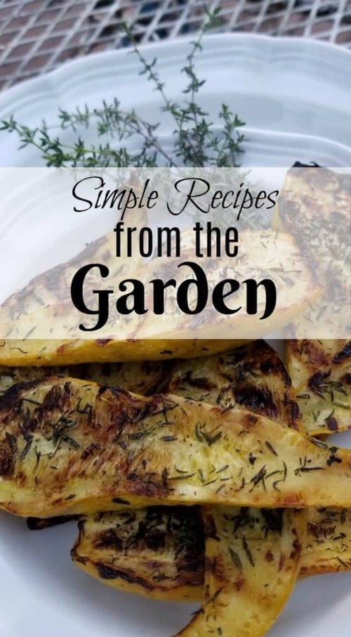 Grilled Squash, Using Garden Produce, Simple recipes from the Garden