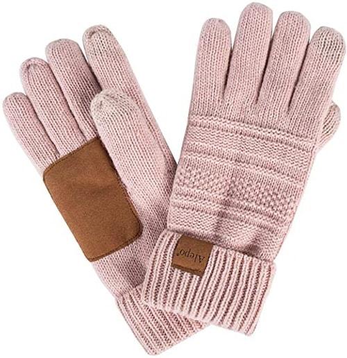 Alepo wool warm knit gloves   40plusstyle.com