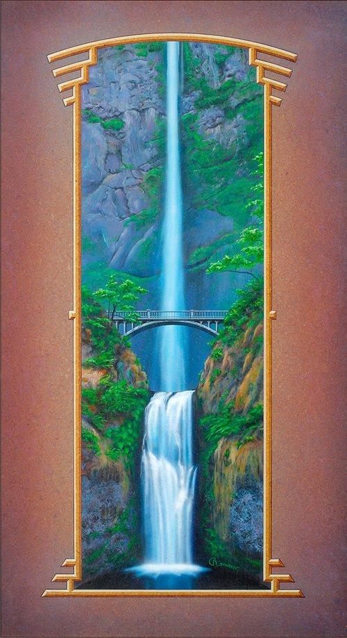 Multnomah Falls by Rahael Schnepf